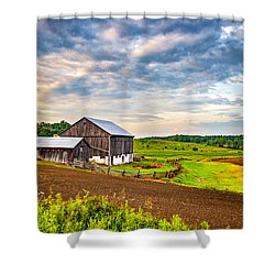 At One With The Land Shower Curtain by Steve Harrington
