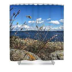 At Point Lawrence Shower Curtain by William Wyckoff