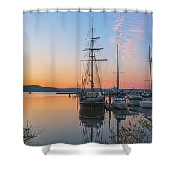 At Rest At Dawn Shower Curtain