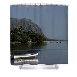 At Rest, Oahu Shower Curtain