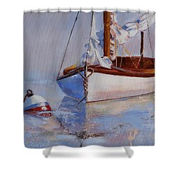 At Rest Shower Curtain by Trina Teele