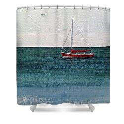 At Rest Shower Curtain by Wendy Shoults