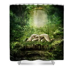 At Sleep Shower Curtain