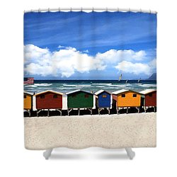 Shower Curtain featuring the photograph At The Beach by David Dehner