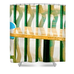 Shower Curtain featuring the photograph At The Beach by Tom Vaughan