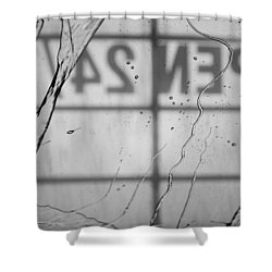 Shower Curtain featuring the photograph At The Car Wash by Colleen Coccia
