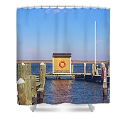 Shower Curtain featuring the photograph At The Dock by Colleen Kammerer