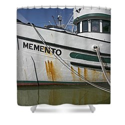 At The Dock Shower Curtain by Elvira Butler