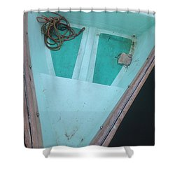 Shower Curtain featuring the photograph At The Dock by Olivier Calas