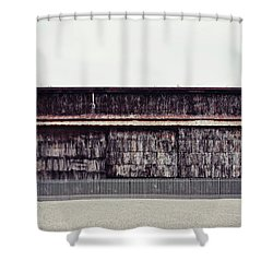 At The Edge Of Town Shower Curtain