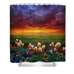 At The End Of Darkness Shower Curtain