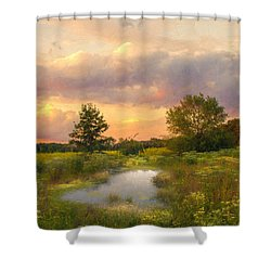 Shower Curtain featuring the photograph At The End Of The Day by John Rivera