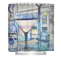 At The End Of The Day Shower Curtain by Pamela Blizzard