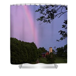 At The End Of The Rainbow Shower Curtain by Nicki McManus