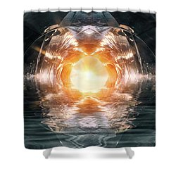 At The End Of The Tunnel Shower Curtain by Wim Lanclus