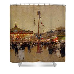 At The Fair  Shower Curtain by Luigi Loir