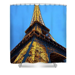 At The Foot Of The Eiffel Tower Shower Curtain by Jani Freimann