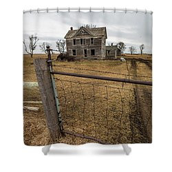 Shower Curtain featuring the photograph At The Gate  by Aaron J Groen