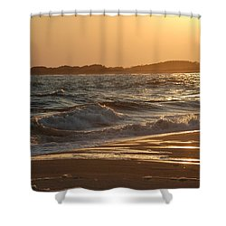 At The Golden Hour Shower Curtain by Richard Bryce and Family