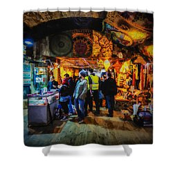 At The Grand Bazaar Shower Curtain by Steve Taylor