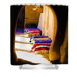 At The Hacienda Shower Curtain