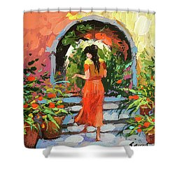 At The Hcienda  Shower Curtain