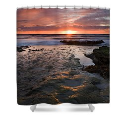 At The Horizon Shower Curtain by Mike  Dawson