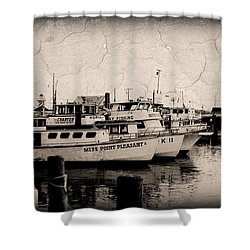 Shower Curtain featuring the photograph At The Marina - Jersey Shore by Angie Tirado