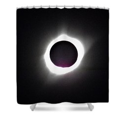 At The Moment Of Totality Shower Curtain