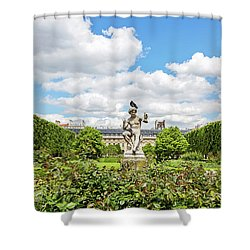 Shower Curtain featuring the photograph At The Palais Royal Gardens by Melanie Alexandra Price