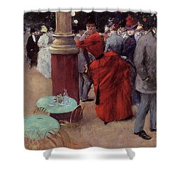At The Public Garden Shower Curtain by Jean Louis Forain