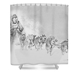 At The Races Shower Curtain