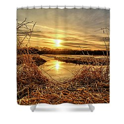 At The Rivers Edge Shower Curtain by Bonfire Photography