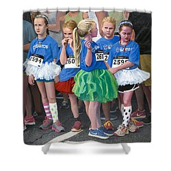 At The Start Of Their Run Shower Curtain