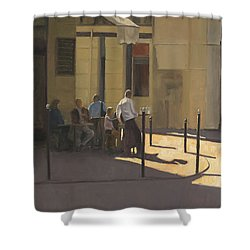 At The Street Cafe Shower Curtain