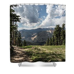 At The Top Of The Run Shower Curtain
