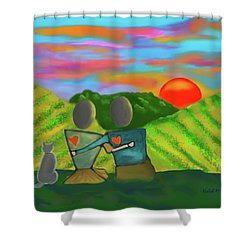 At The Vineyard Shower Curtain