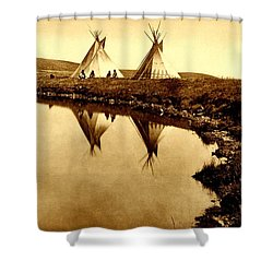 At The Waters Edge 1910 Shower Curtain
