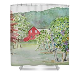 At The Winery Shower Curtain