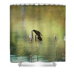 Shower Curtain featuring the photograph At This Moment by Aimelle