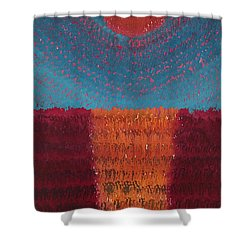 At World's Beginning Original Painting Shower Curtain