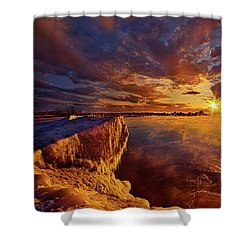 Shower Curtain featuring the photograph At World's End by Phil Koch