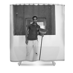 At Your Command Shower Curtain by Jez C Self
