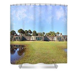 Atalaya Castle At Huntington Shower Curtain