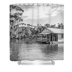 Atchafalaya Basin Fishing Camp Shower Curtain
