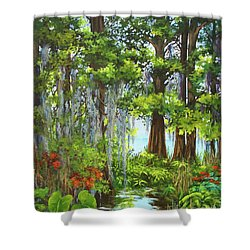 Atchafalaya Swamp Shower Curtain by Dianne Parks