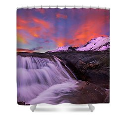 Athabasca On Fire Shower Curtain by Dan Jurak
