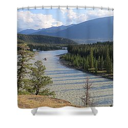 Athabasca River - Jasper Shower Curtain