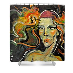 Athena Daughter Of Zeus Shower Curtain by Tim Nyberg
