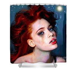 Athena Girl Shower Curtain